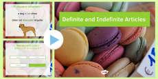 Definite and Indefinite Articles Presentation