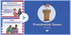 Presidential Issues Debate PowerPoint