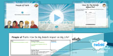 PlanIt - RE Year 4 - People of Faith Lesson 6: How Do My Beliefs Impact on My Life? Lesson Pack