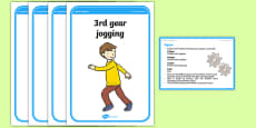 Foundation PE (Reception) Gears Cool-Down Activity Card