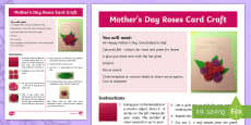 * NEW * Mother's Day Roses Card Craft Instructions