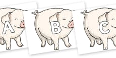 A-Z Alphabet on Wilbur