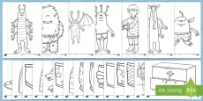 Story Colouring Sheets to Support Teaching on Aliens Love Underpants