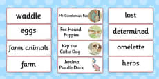 The Tale of Jemima Puddle-Duck Word Cards (Beatrix Potter)