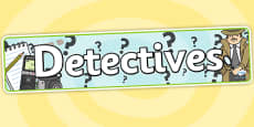 Detectives Role Play Banner
