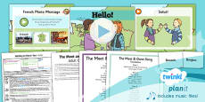 PlanIt - French Year 3 - Getting to Know You Lesson 1: Hello! Lesson Pack
