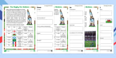 Rugby Six Nations  Differentiated Comprehension Go Respond Activity Sheets