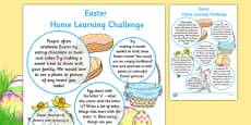 Easter Home Learning Challenges Reception FS2