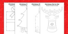 Christmas Dot to Dots Polish Translation - English/Polish