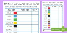 Ficha de actividad: Encuesta - El color de los coches