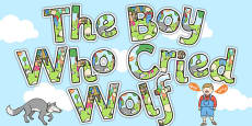 The Boy Who Cried Wolf Display Lettering