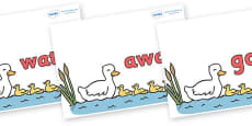 Next 200 Common Words on Five Little Ducks
