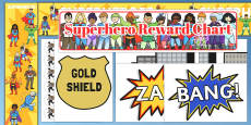 Superhero Reward Display Pack