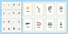 Final 'ng' Sound Flash Cards