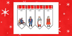 Editable Bookmarks to Support Teaching on The Jolly Christmas Postman
