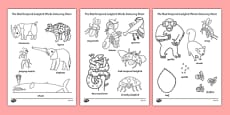 Words Colouring Sheet to Support Teaching on The Bad Tempered Ladybird