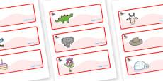 Ant Themed Editable Drawer-Peg-Name Labels