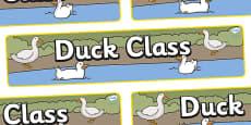 Duck Themed Classroom Display Banner