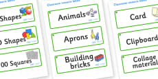Elm Tree Themed Editable Classroom Resource Labels