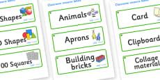 Elm Tree Themed Editable Classroom Resource Labels