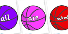 Tricky Words on Basketballs