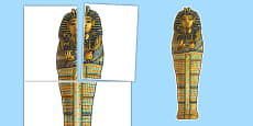 Large A2 Sarcophagus Display Cut Out Ancient Egypt
