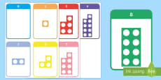 Number Shape Matching Activity Number Bonds to 10 Number Cards