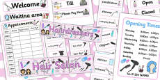 Hairdressers/Salon Role Play Pack