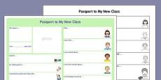 Passport Template to a New Class