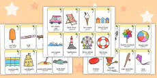 Seaside Flashcards Arabic Translation