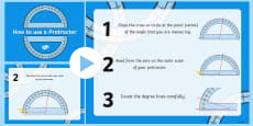 How to Use a Protractor Display PowerPoint