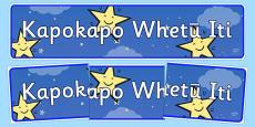 Twinkle, Twinkle, Little Star Display Banner Te Reo Māori