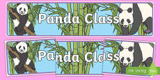 Panda Themed Classroom Display Banner