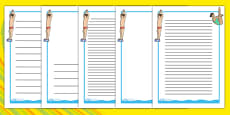 The Olympics Diving Page Borders