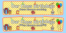 Our Class Birthdays Display Banner Polish Translation