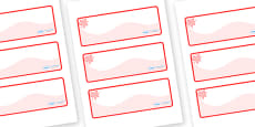 Red Themed Editable Drawer-Peg-Name Labels (Colourful)