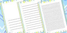 Green Stripe Page Borders