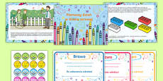 EYFS Starting Reception Editable PowerPoint Story and Resource Pack Polish