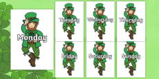 Days of the Week on Leprechauns