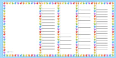 Multicolour Handprint Page Borders