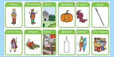 Fionn and the Dragon Vocabulary Flash Cards