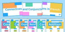 Connectives and Conjunctions Display Posters French