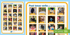 Verbs Photo Display Poster A4