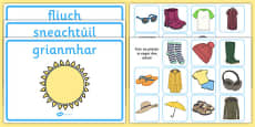 Weather Clothes Sorting Activity Gaeilge
