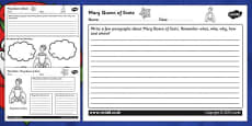 Tudors Mary Queen of Scots Mind Maps and Worksheets