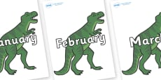 Months of the Year on T-Rex