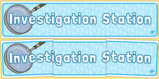 Investigation Station Display Banner