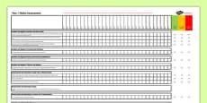 Australian Curriculum Year 1 Maths Assessment Spreadsheet