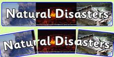 Natural Disasters Display Banner