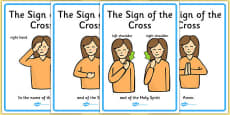 Sign of the Cross Display Posters